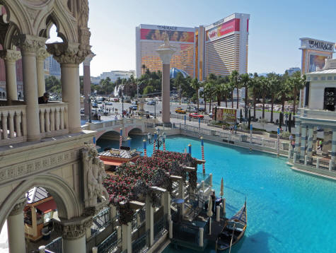 Canals at the Venetian Hotel in Las Vegas
